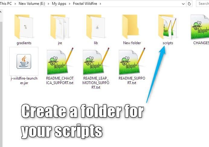 Installing Scripts 1 Create Folder