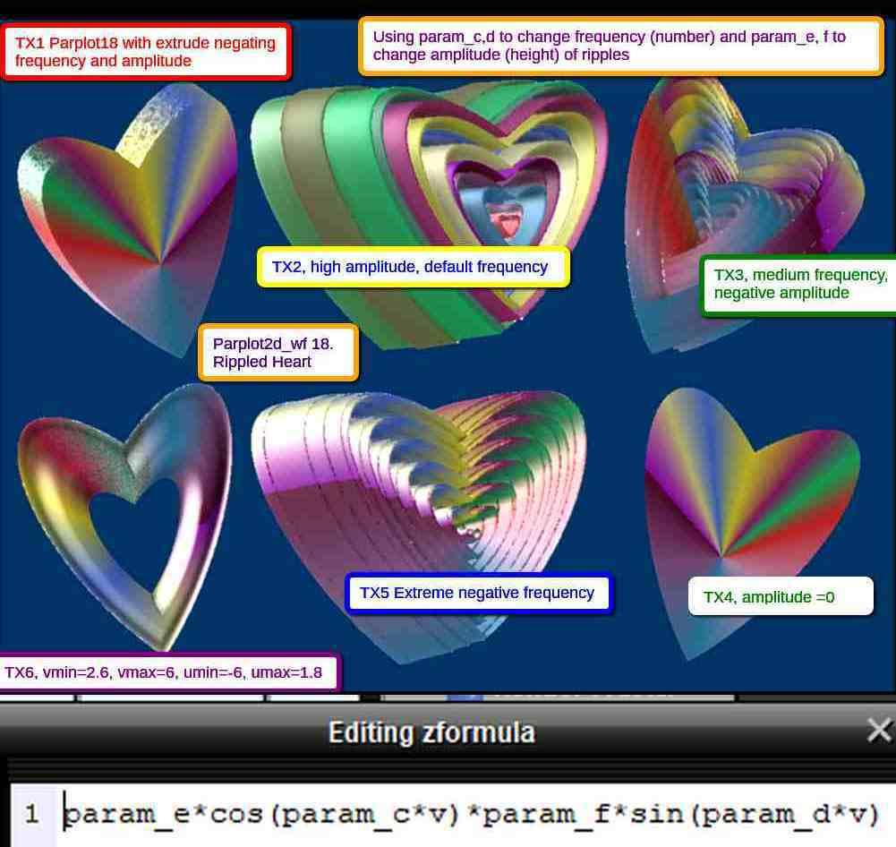 Making Rippled and Non-rippled Parplot Hearts DUO pplot 18 param cdef slg