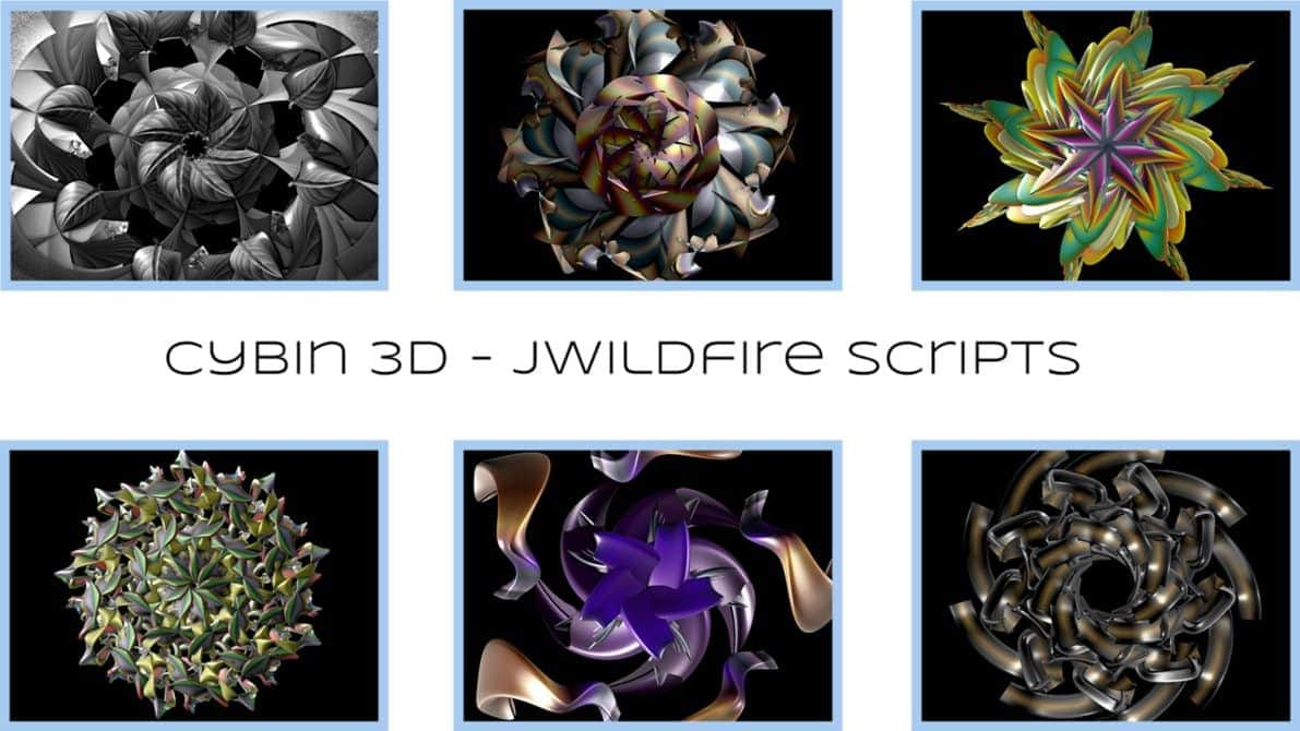 Cybin3D For JWildfire - Michael Bourne A range of randomised 3D shapes twisted and distorted in various...