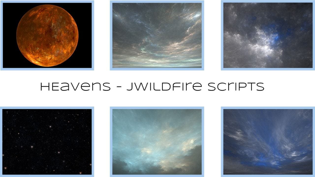 My collection of scripts to create flame fractal skies, flame fractal starfields and flame fractal planets....