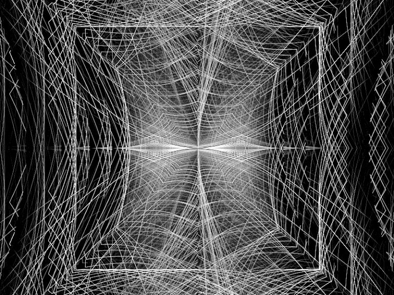 Black White Maurer lines Webby Frame
