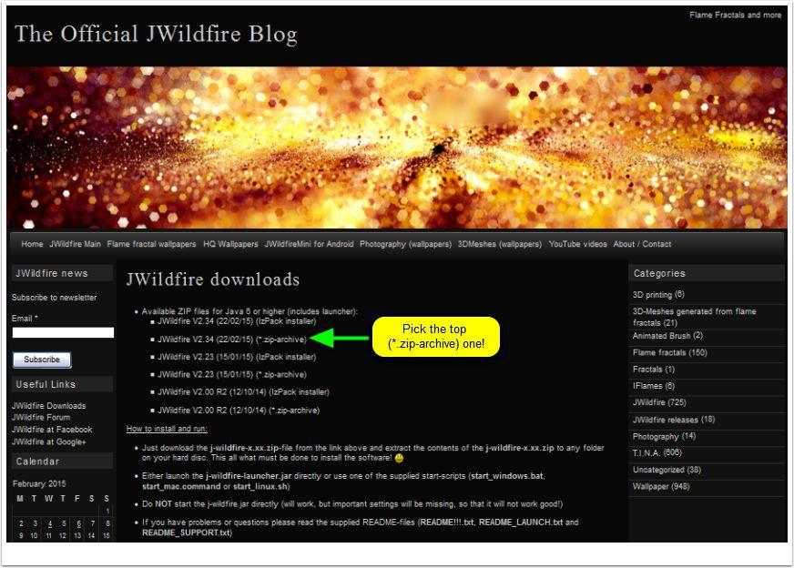 The Official JWildfire Blog   Download Page