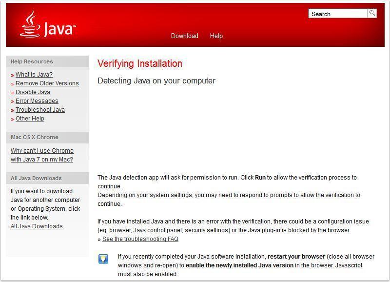 Verifying Java Version