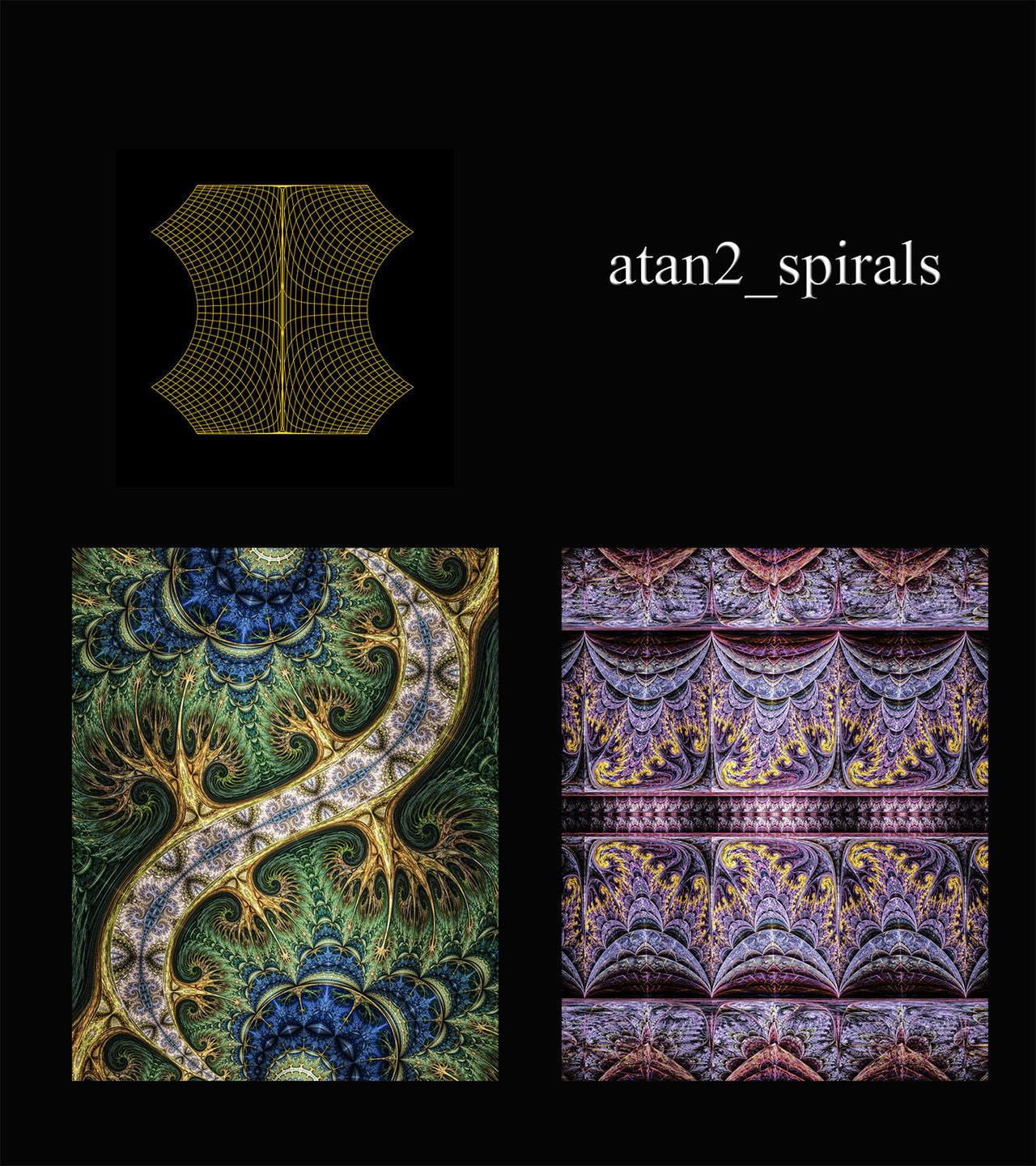 Variation based heavily on atan2 functions. With linears, it can create tiled patterns with spirals or...
