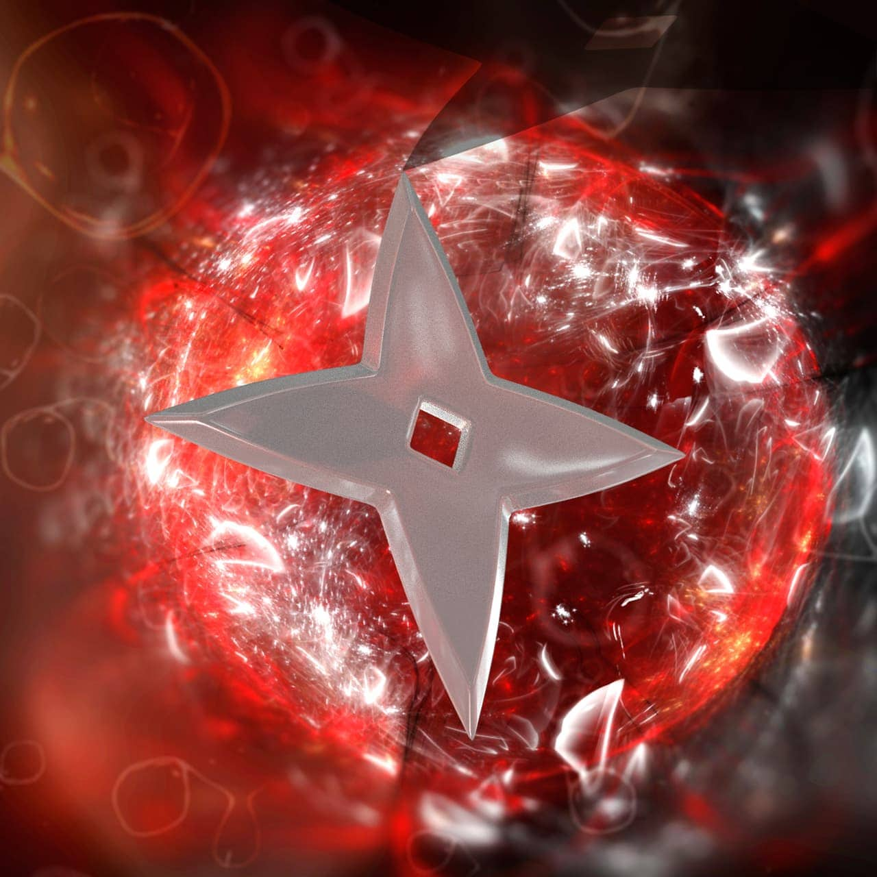 This is a 3D object of a shuriken. ...