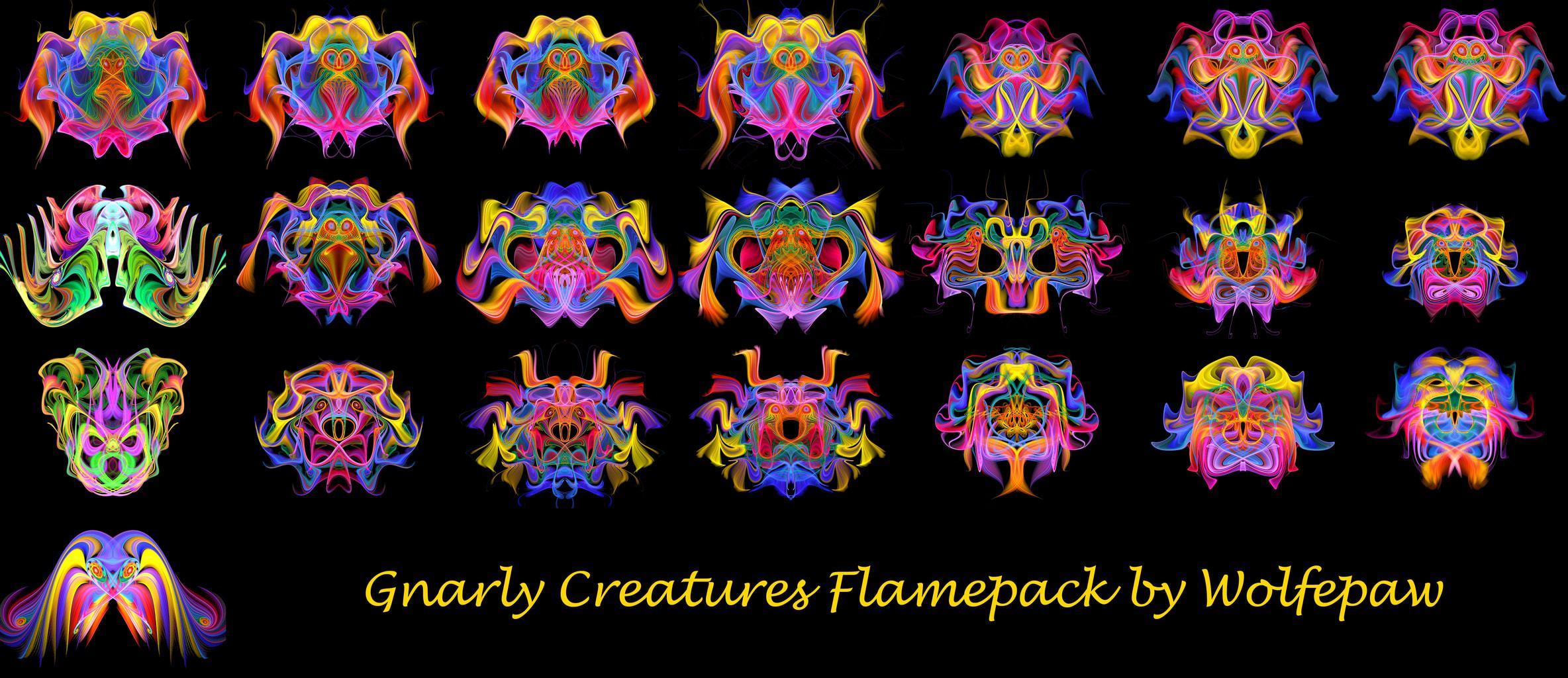 Gnarl3D Flamepack Thumbs | Gnarly Creatures Flamepack
