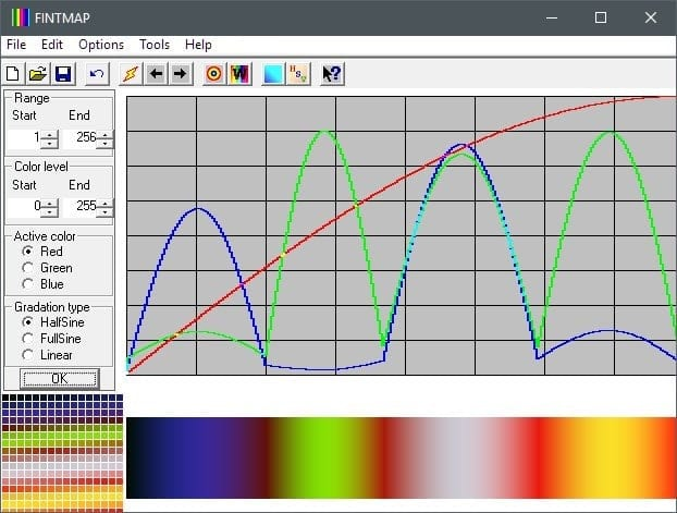 FIntMap was originally written for Win9x and is a program to produce custom color maps (or modify existing...