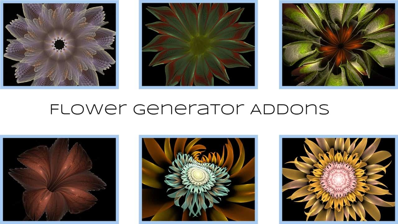 Some extra flower generators that are due for inclusion in the Bloomin Flower Power pack of scripts....