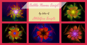 Bubble Flower Script Image Display | Bubble Flower Script