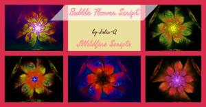 Bubble Flower Script Image Display