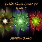 Bubble Flower Script V Image Display