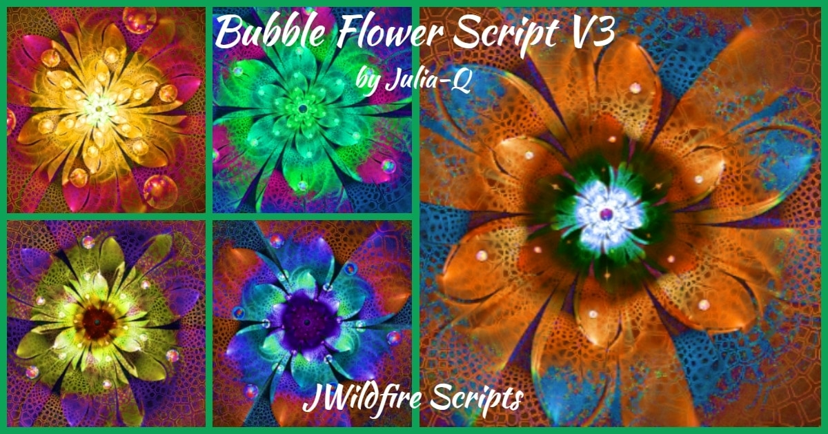 *Bubble Flower V3 Script - Lynda McDaniel Compatible with JWildfire Software https://jwildfire.overwhale.com Hello,...