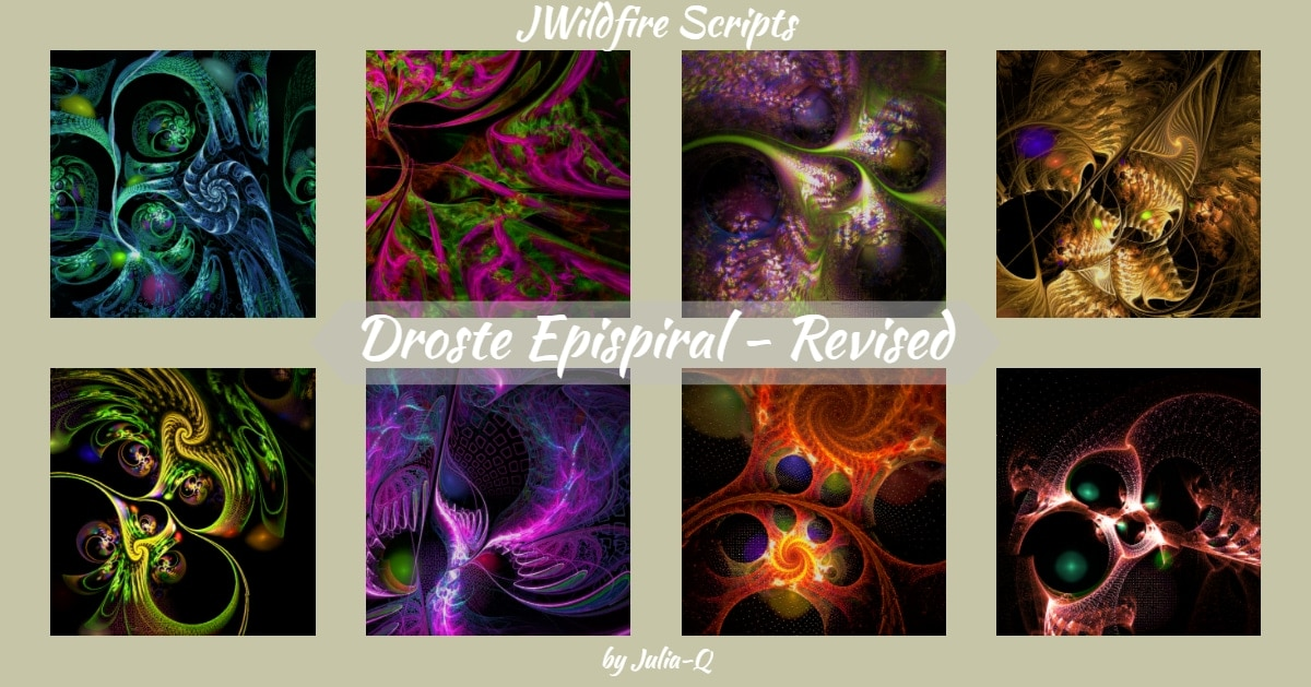 *Droste Epispiral Script- REVISED - Lynda McDaniel Compatible with JWildfire Software https://jwildfire.overwhale.com Hello,...
