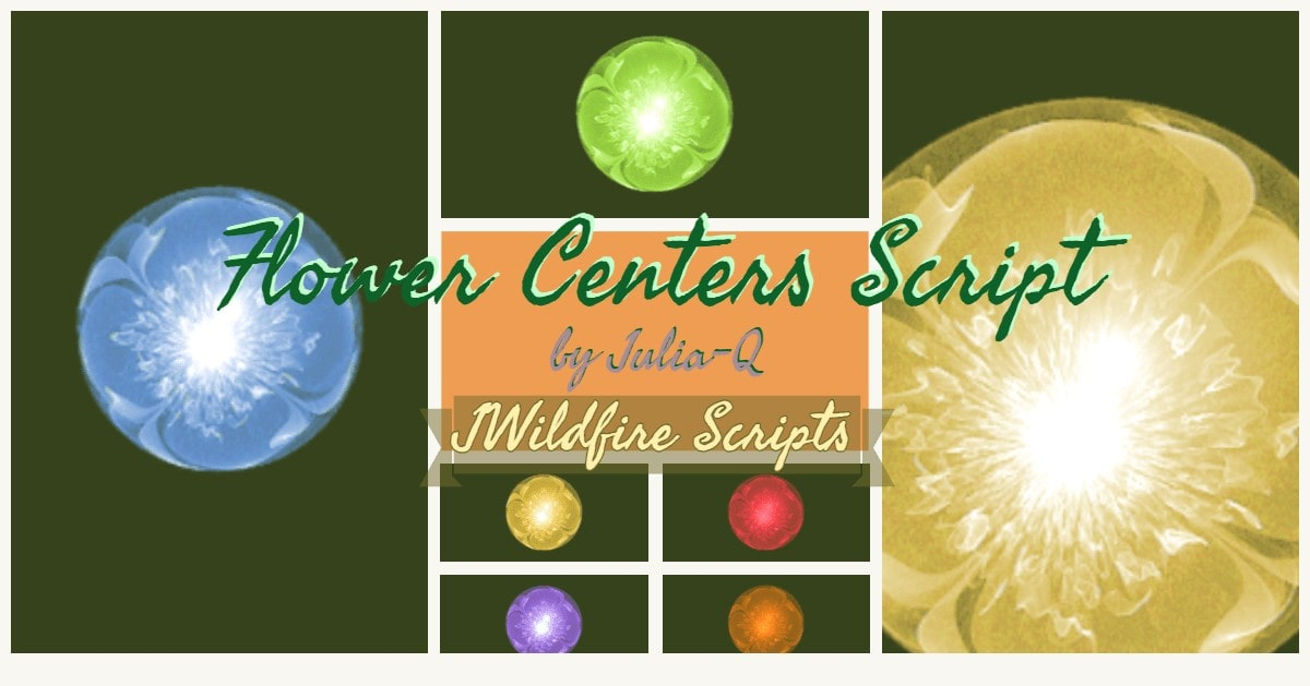 *Flower Centers Script - Lynda McDaniel Compatible with JWildfire Software https://jwildfire.overwhale.com This...