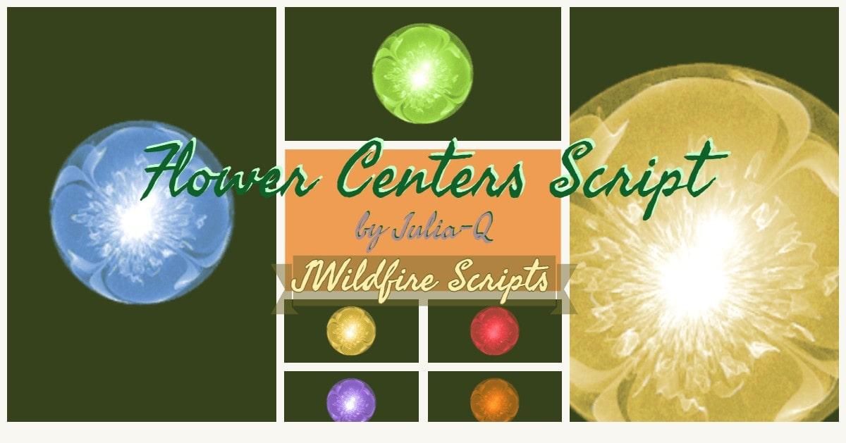 Flower Centers Script Image Display | Flower Centers Script