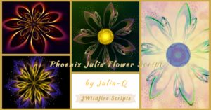Phoenix Julia Flower Script Display Image | Phoenix Julia Flower - Revised