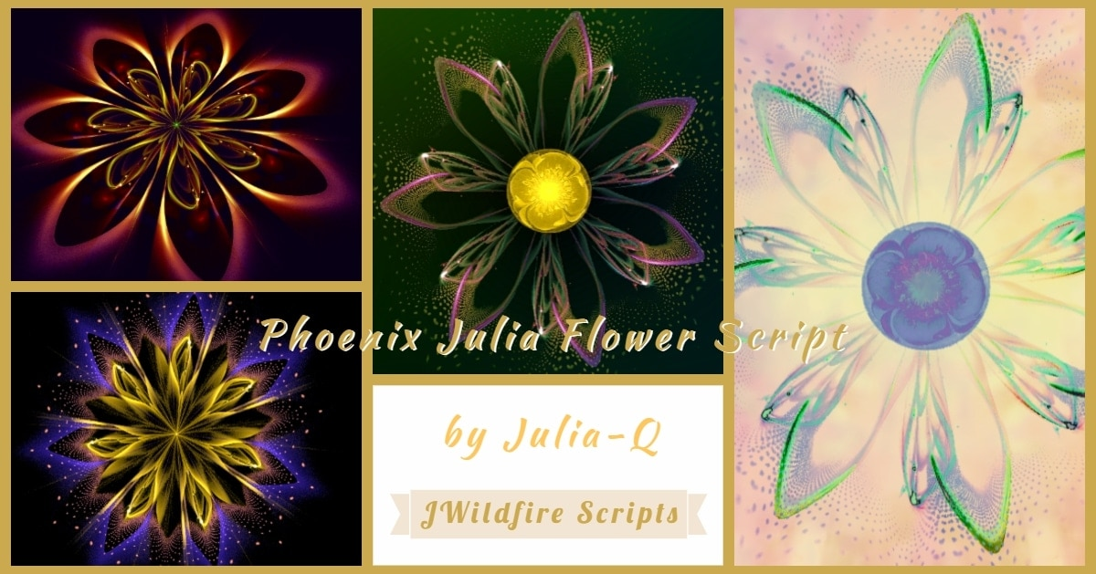 Phoenix Julia Flower Script Display Image | Phoenix Julia Flower - Revised