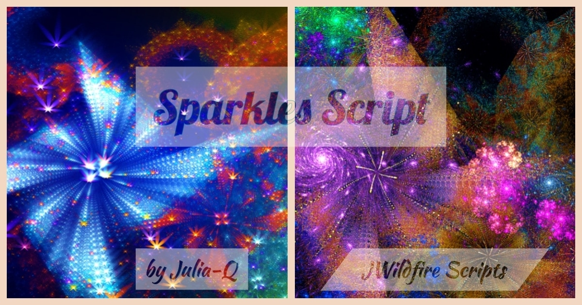 Sparkles Script Image Display | Sparkles Script