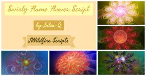 Swirly Flame Flower Script Package Display Image