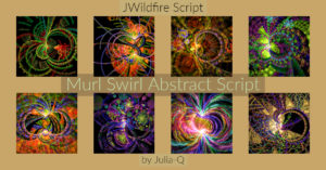 Murl Swirl Abstract Script Display Image | Murl Swirl Abstract Script