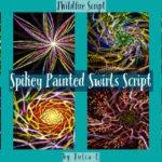 Spikey Painted Swirls Display Image