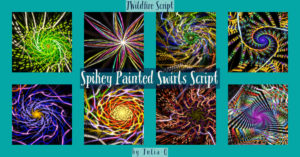 Spikey Painted Swirls Display Image | Spikey Painted Swirls Script