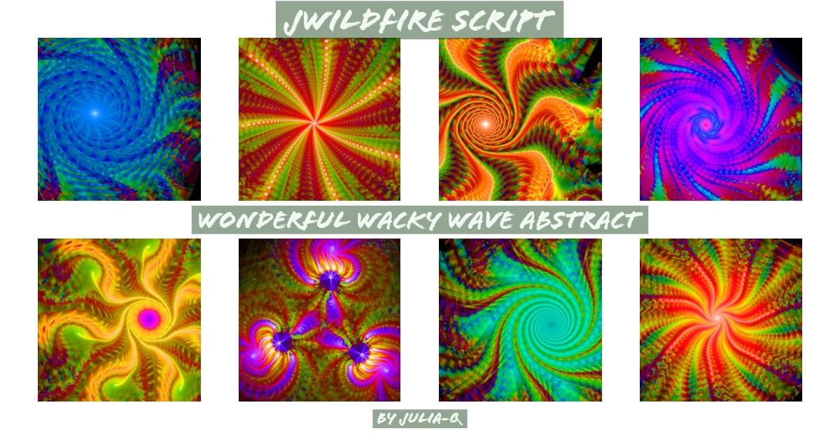 *Wonderful Wacky Waves Abstract Script - Lynda McDaniel Compatible with JWildfire Software https://jwildfire.overwhale.com Hello,...