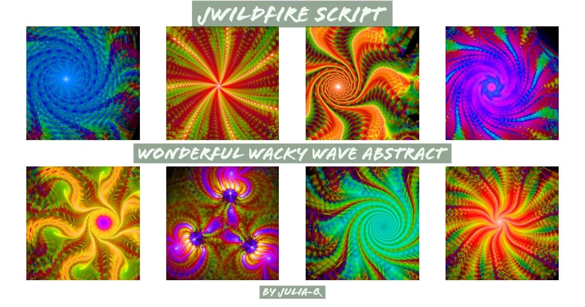 Wonderful Wacky Wave Abstract Display Image | Wonderful Wacky Wave Abstract Script
