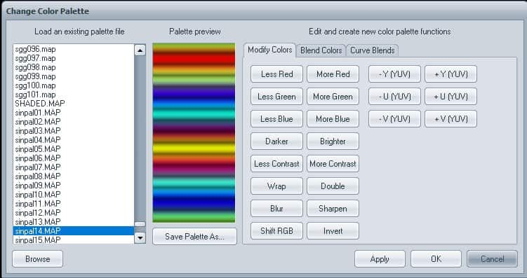 1 Open Change Color Palette | How to use Visions of Chaos to grab gradient from Image