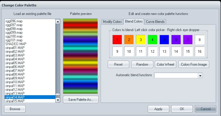 2 Ciick Blend Colors | How to use Visions of Chaos to grab gradient from Image