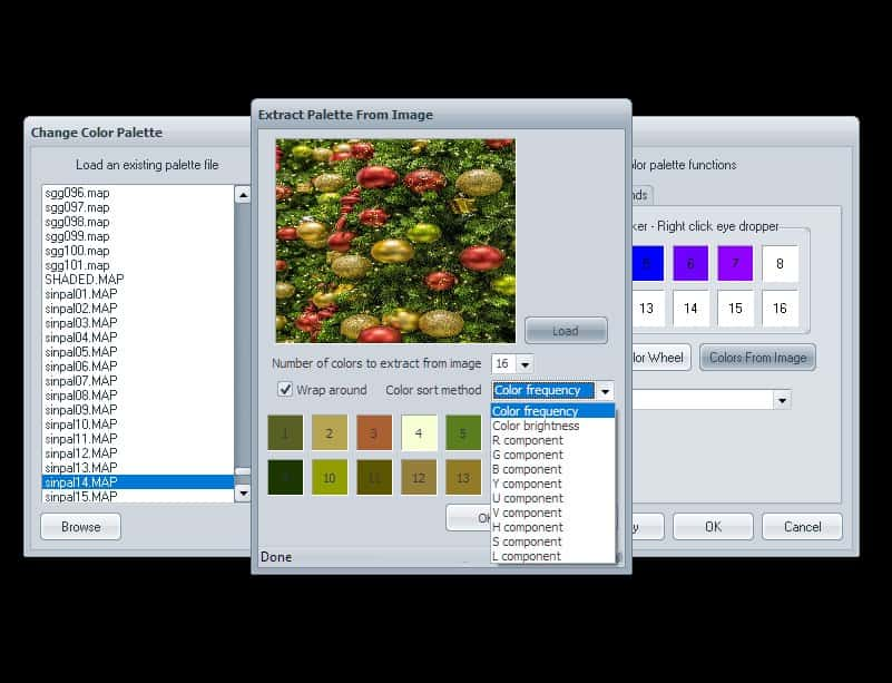5 Select num colours and sort method | How to use Visions of Chaos to grab gradient from Image