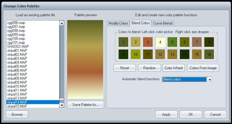 7 Chosen now save palette | How to use Visions of Chaos to grab gradient from Image