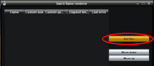 04a Click on Add files | Using the Batch Renderer in JWildfire