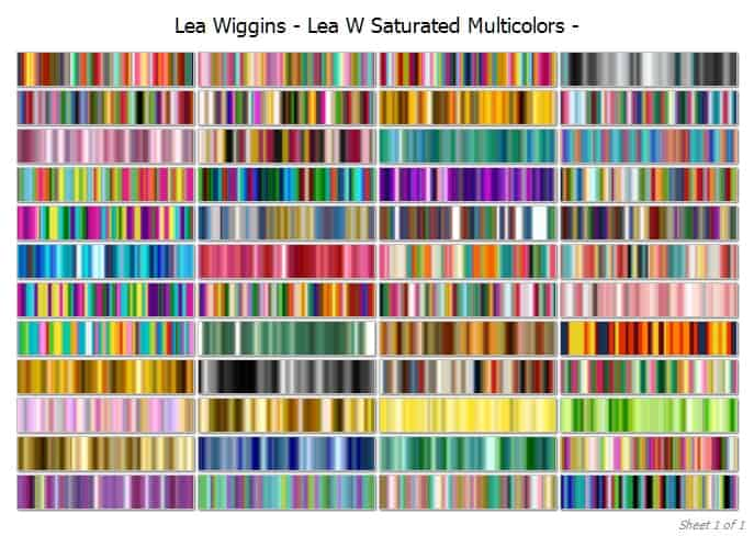Saturated multicolours cover | Lea Wiggins Saturated Multicolour Collection