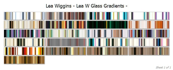 glass gradients cover | Lea Wiggins Glass Collection