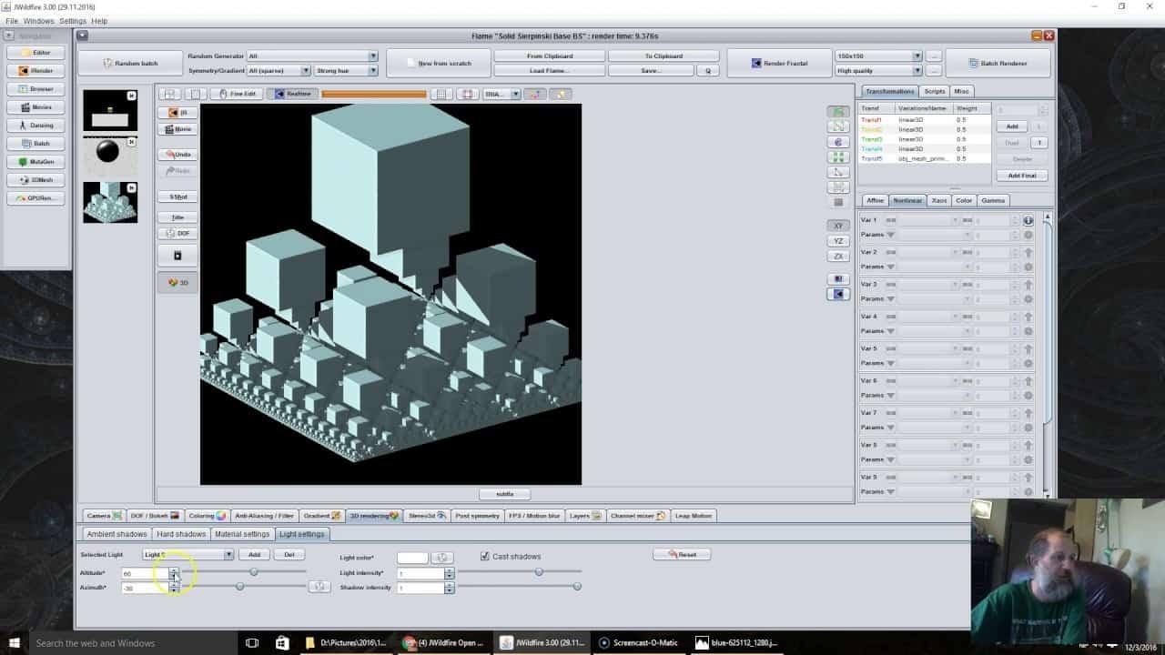 jwildfire 3 0 tutorial 3d lights | JWildfire 3.0 tutorial --- 3D Lights