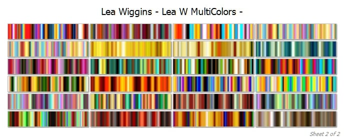 multicolours cover 2 | Lea Wiggins  Multi Colours Collection