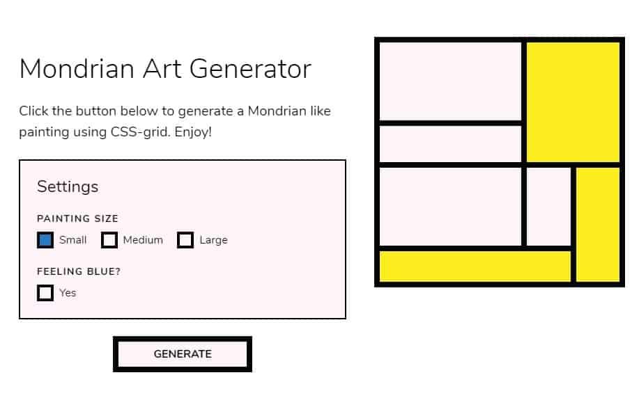 Mondrian Generator