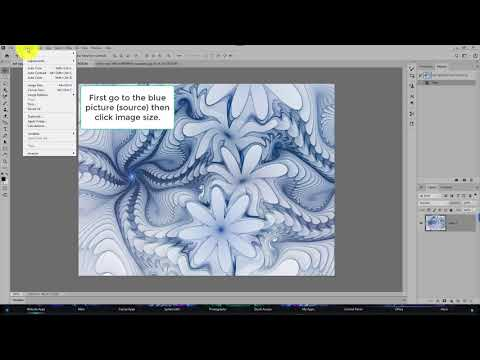 Mapping a fractal image to a photo