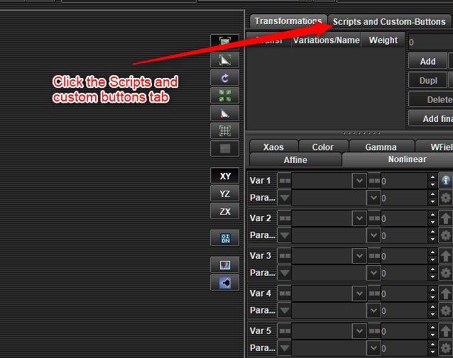 1 Click scripts tab | How to run built in scripts