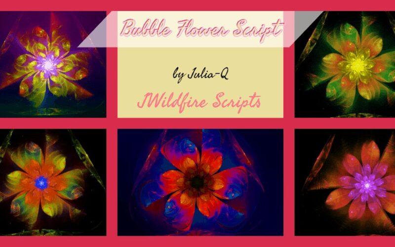 Bubble Flower Script Image