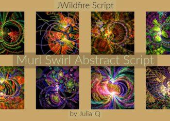 Murl Swirl Abstract Script