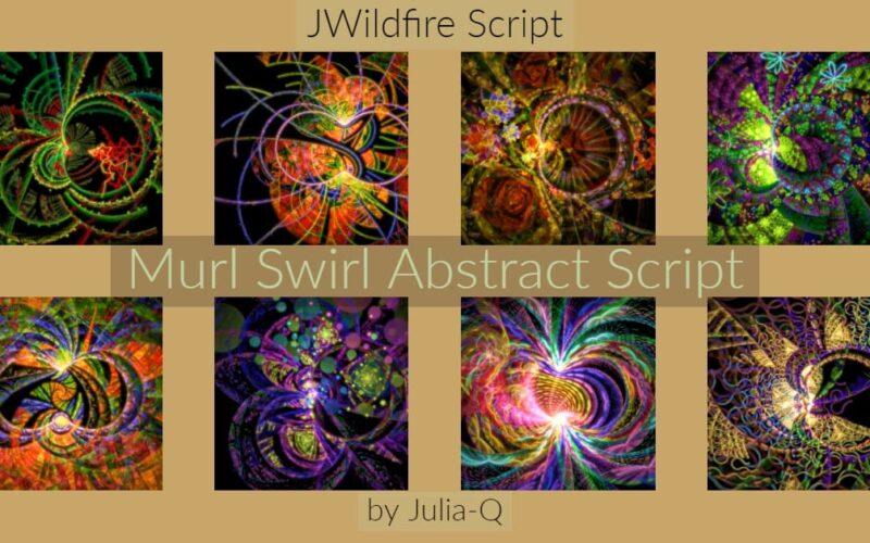 Murl Swirl Abstract Script Image