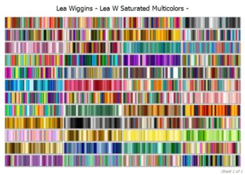 Lea Wiggins Saturated Multicolour Collection