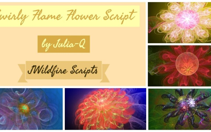 Swirly Flame Flower Image