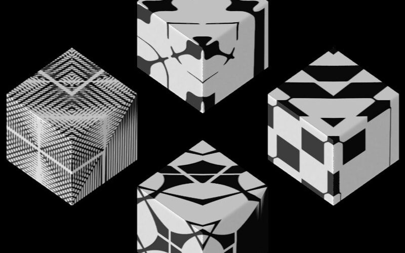 Texture Set # 3_ Recurrenceplot Black on white Image