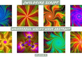 Wonderful Wacky Wave Abstract Script