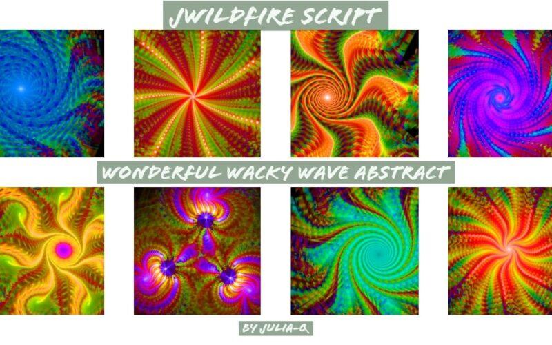 Wonderful Wacky Wave Abstract Script Image